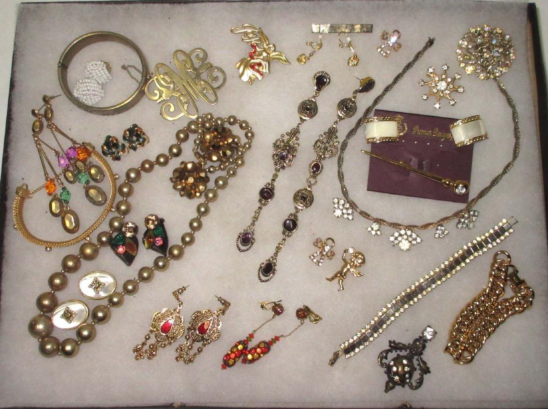27 piece Misc. Accented Goldtone Rhinestone Jewelry