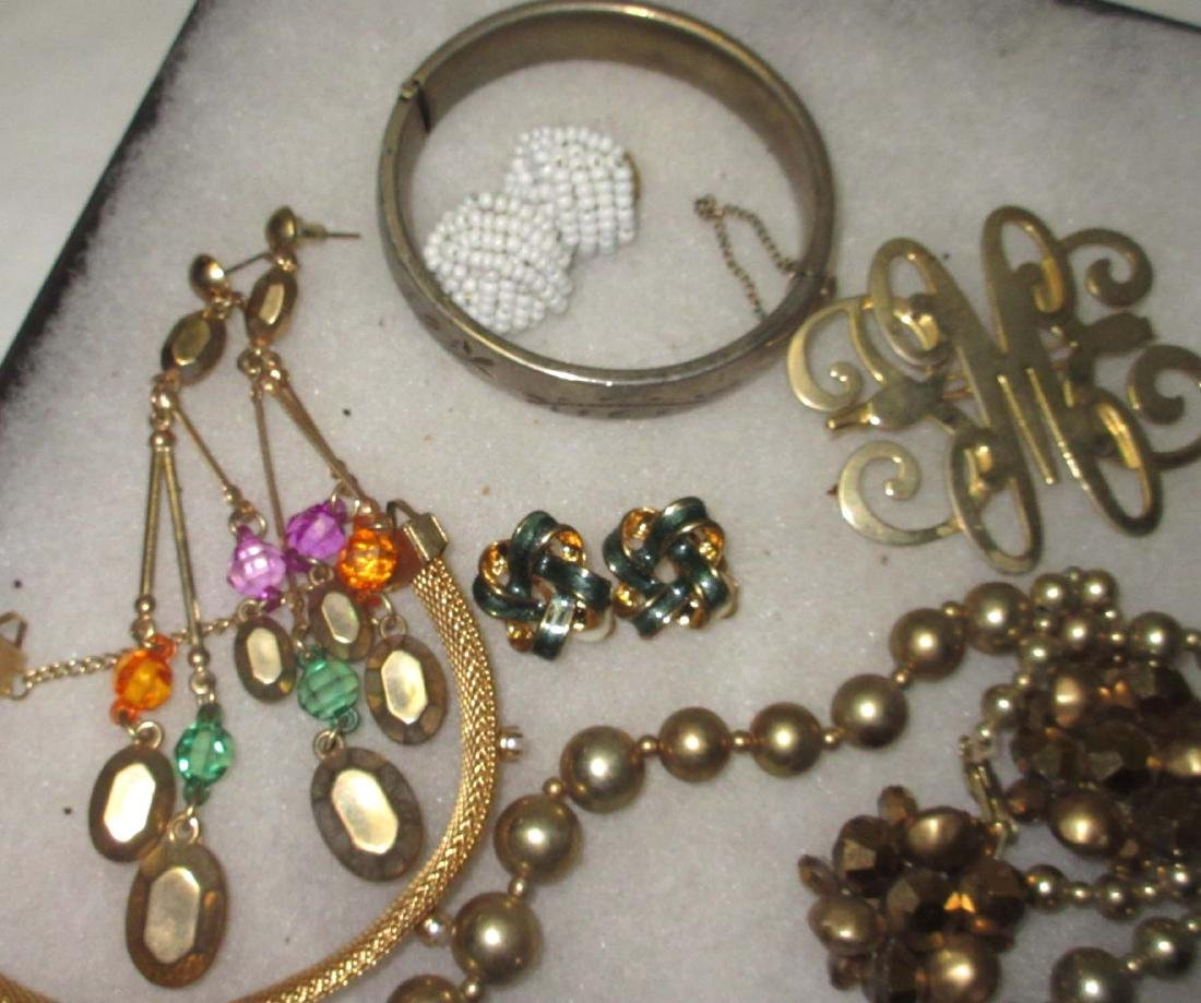 27 piece Misc. Accented Goldtone Rhinestone Jewelry - 2