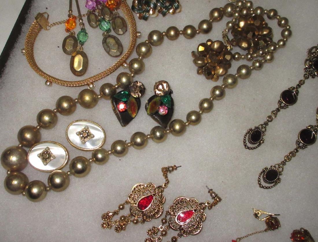 27 piece Misc. Accented Goldtone Rhinestone Jewelry - 3