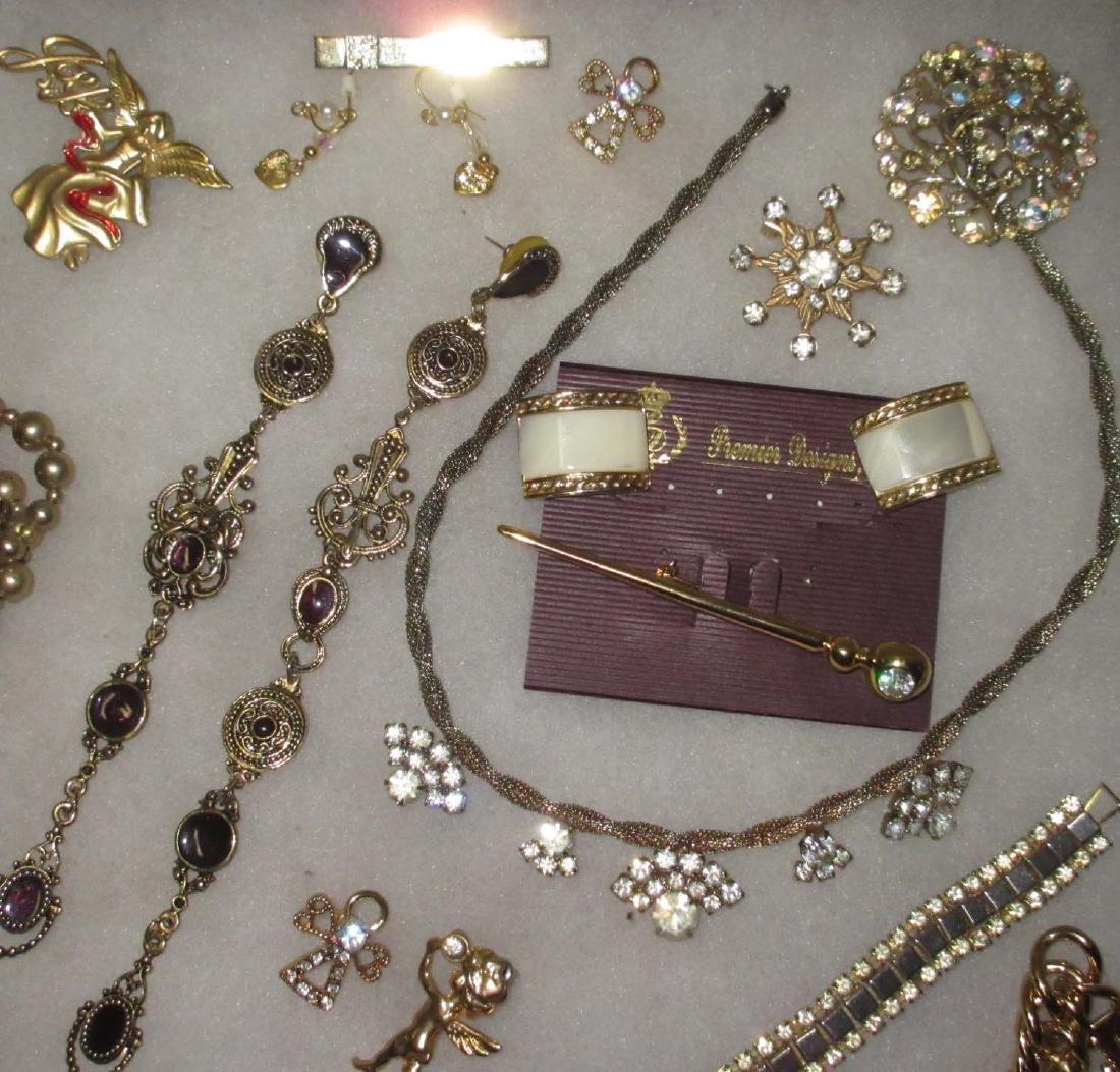 27 piece Misc. Accented Goldtone Rhinestone Jewelry - 4