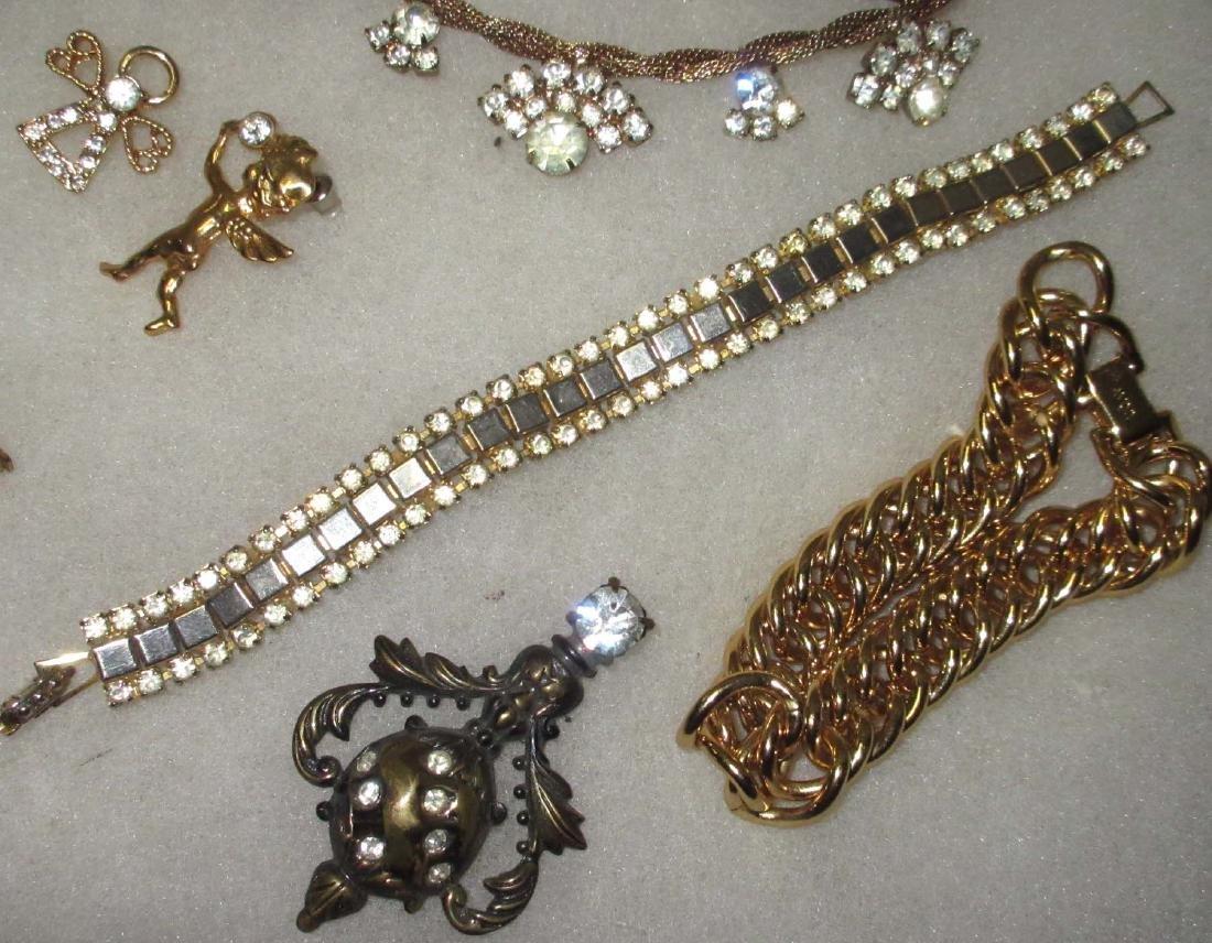 27 piece Misc. Accented Goldtone Rhinestone Jewelry - 5