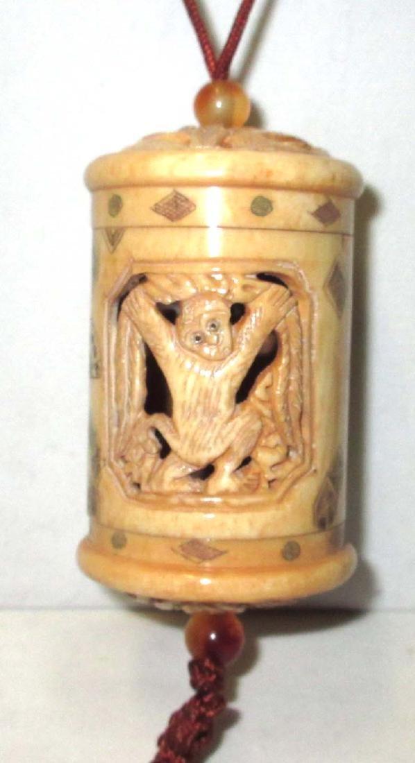 Carved Ox Bone Inri - 2