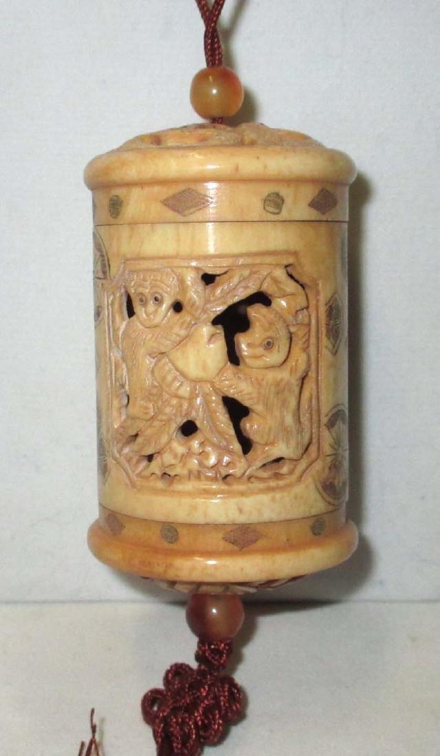 Carved Ox Bone Inri - 3