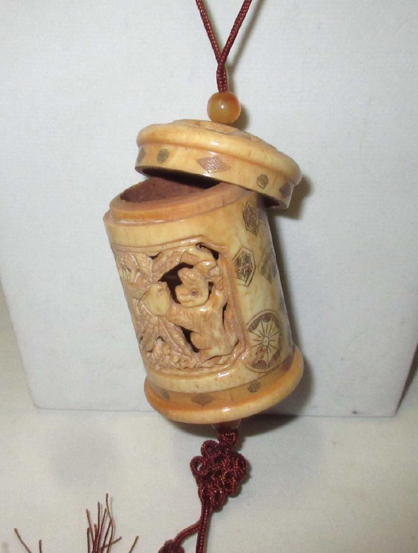 Carved Ox Bone Inri - 4