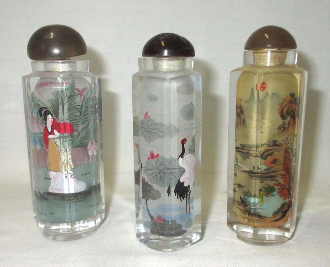 3 Reverse Painted Snuff Bottles - 2
