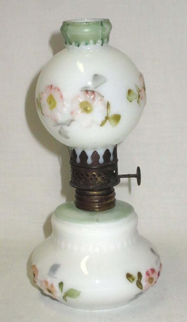Vtg. H.P. Embossed Miniature Oil Lamp