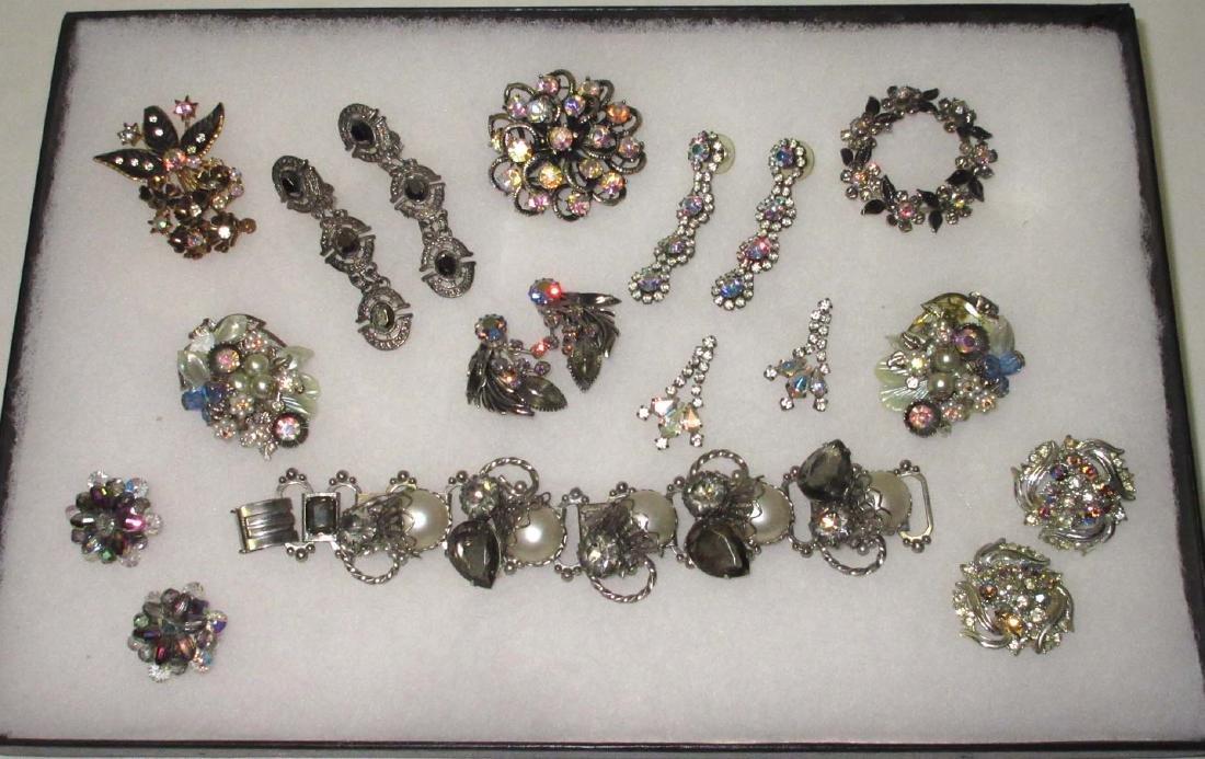 11 piece Black Diamond & AB Rhinestone Jewelry