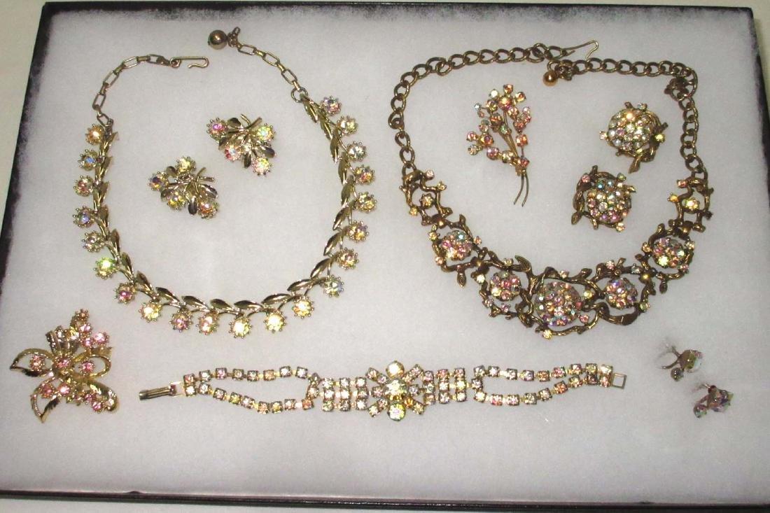 Pretty Aurora Borealis Rhinestone Jewelry