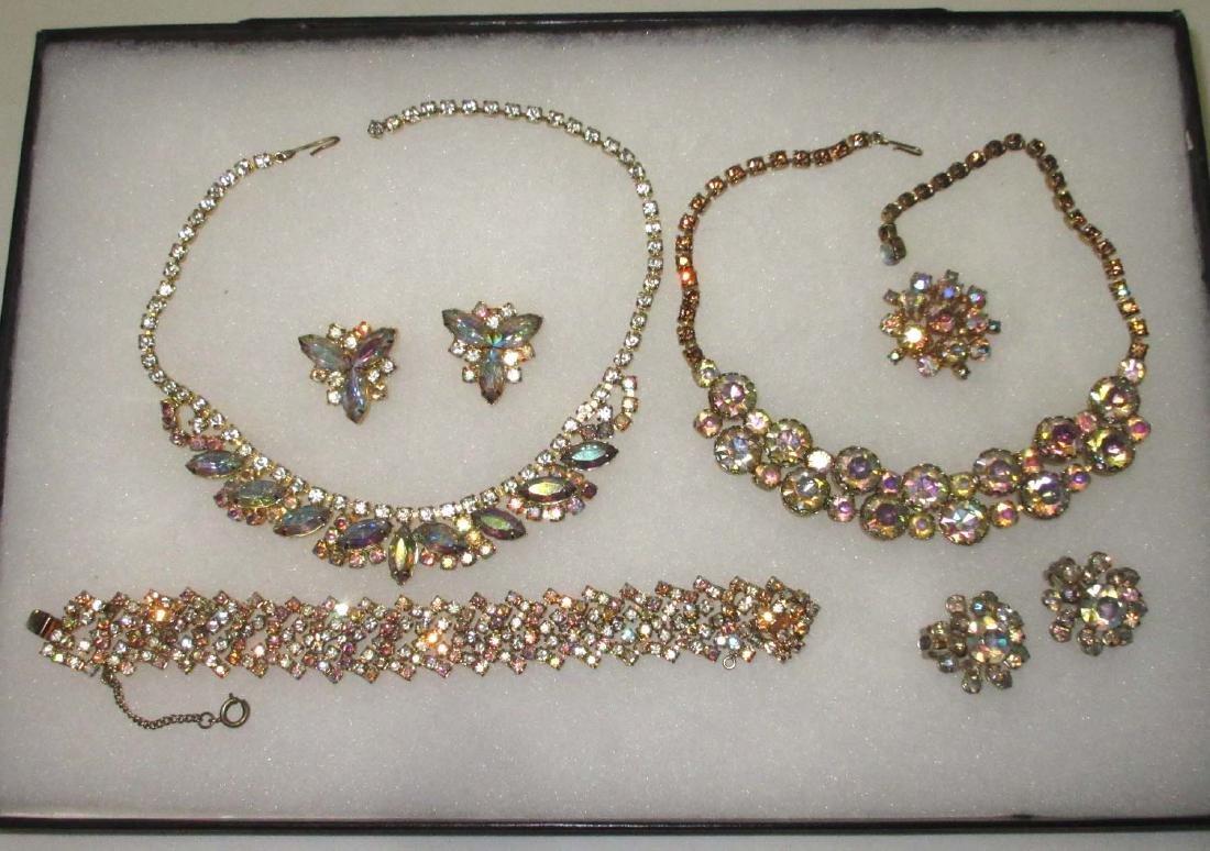 6 piece Quality AB Marquise Rhinestone Jewelry