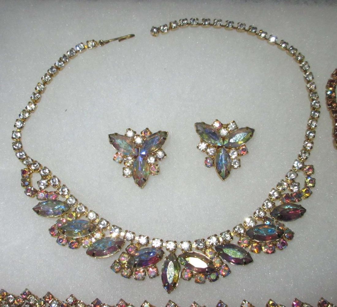 6 piece Quality AB Marquise Rhinestone Jewelry - 2