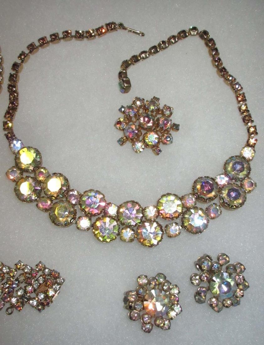 6 piece Quality AB Marquise Rhinestone Jewelry - 3