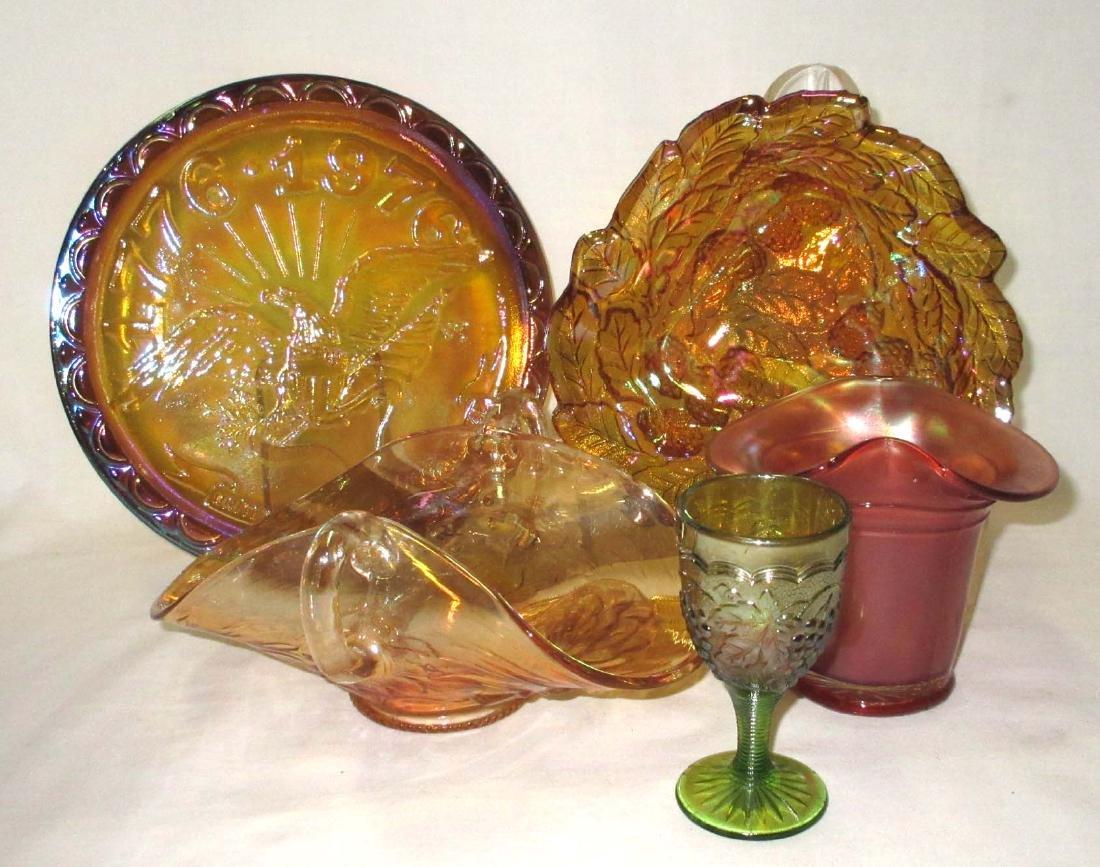5pc Carnival Glass
