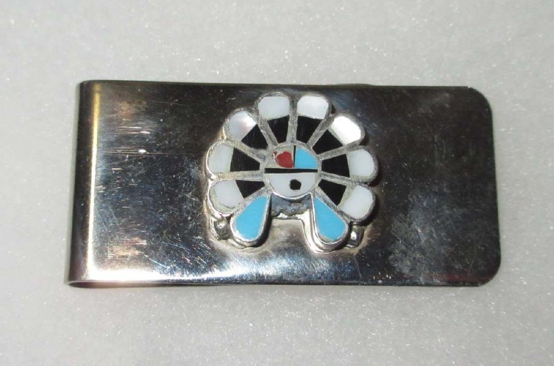 Sterling Turquoise Money Clip