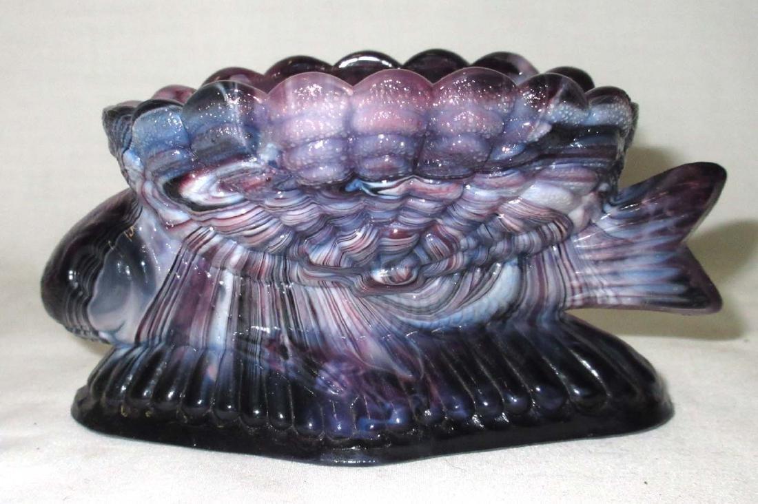Purple Slag Glass Fish Master Salt