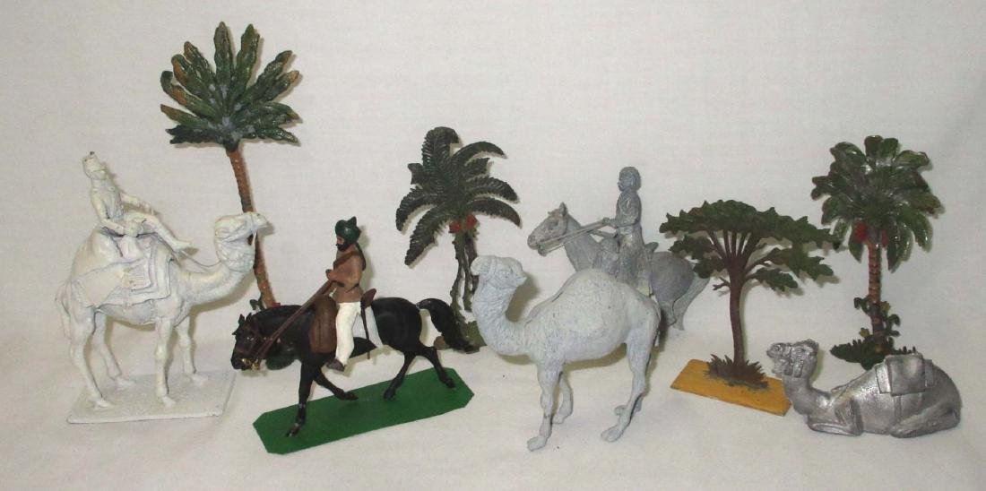 Lot of Lead Soldiers, Camels & Trees