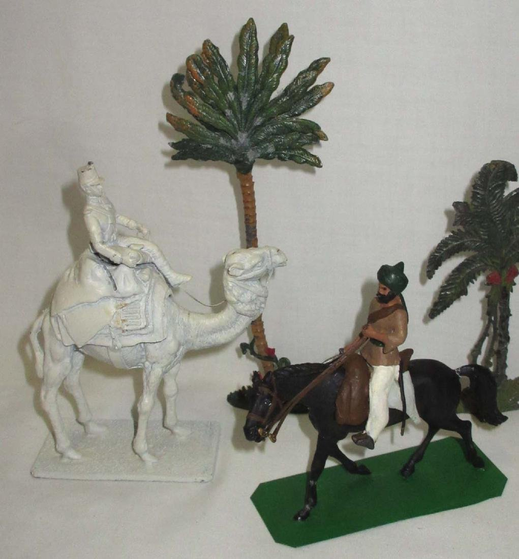 Lot of Lead Soldiers, Camels & Trees - 2