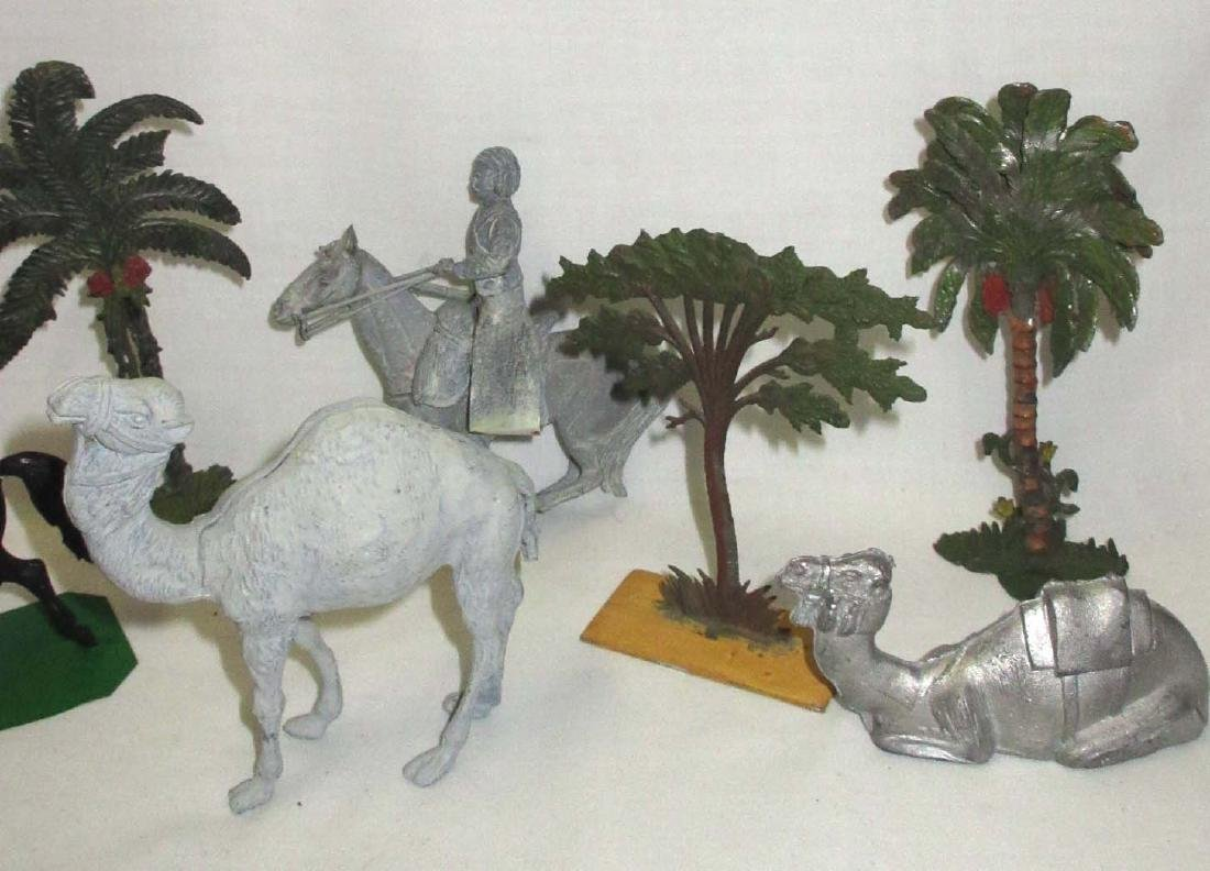 Lot of Lead Soldiers, Camels & Trees - 3