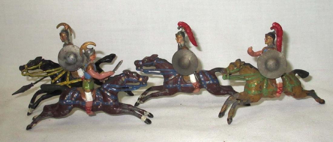 Lot of 4 Roman Lead Soldiers on Horseback