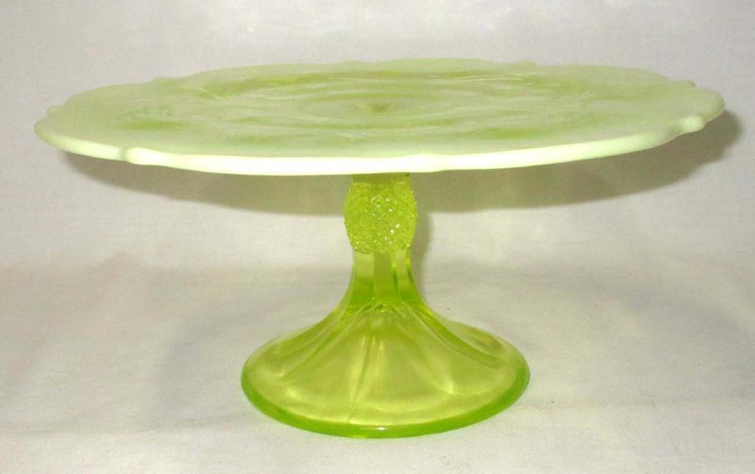 Vaseline Opalescent Cake Stand - 2