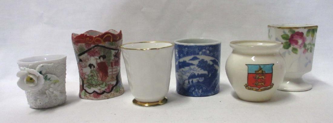 6 Porcelain Toothpick Holders