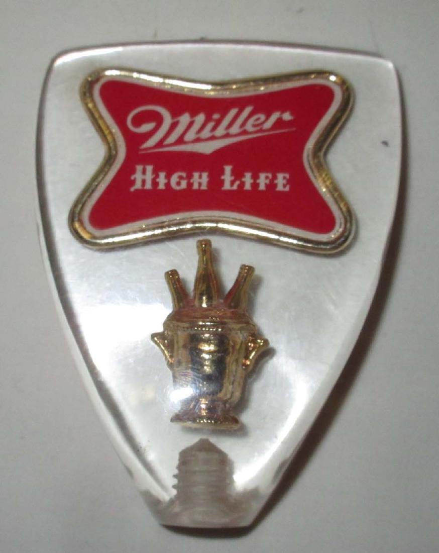 10 Piece Vtg Men's Jewelry & Miller Beer Tap Pull - 2
