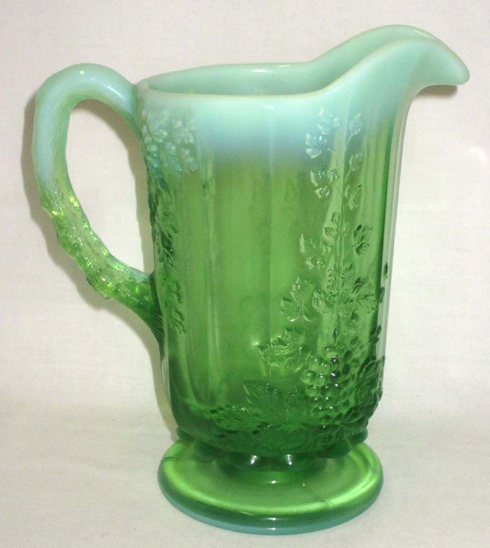 Green Opalescent Water Pitcher