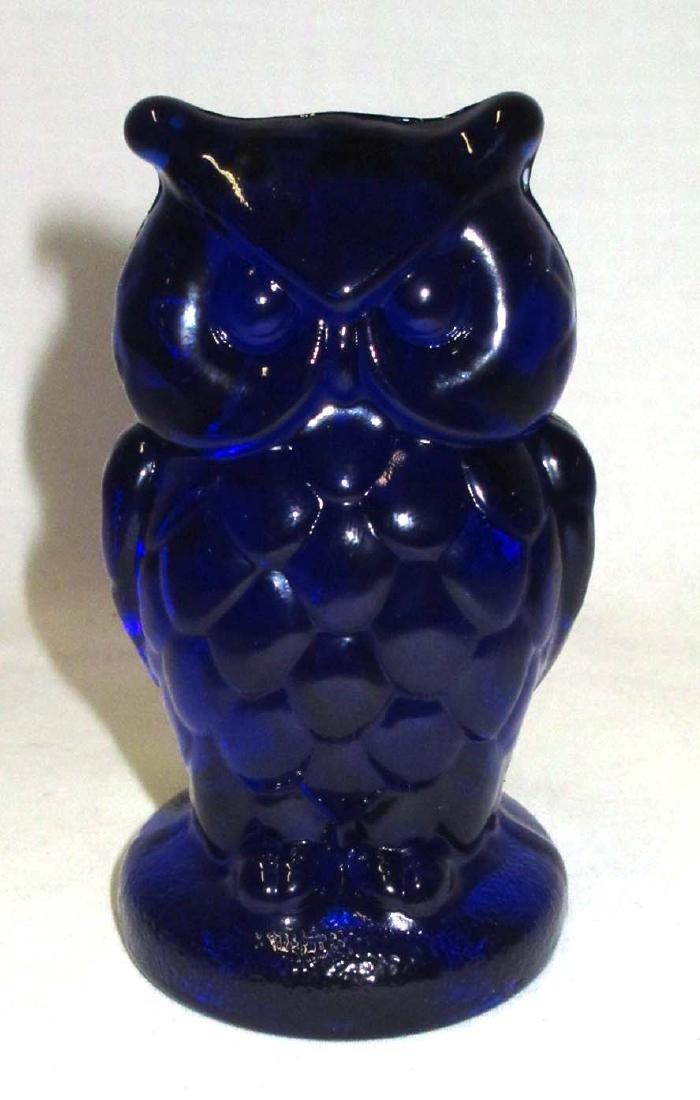 Cobalt Owl Paperweight