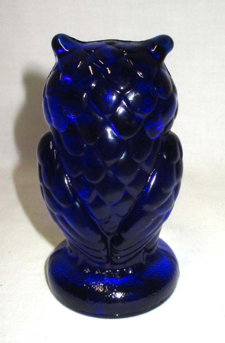 Cobalt Owl Paperweight - 2