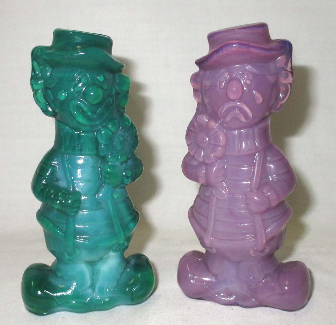 2 Boyd Glass Clowns