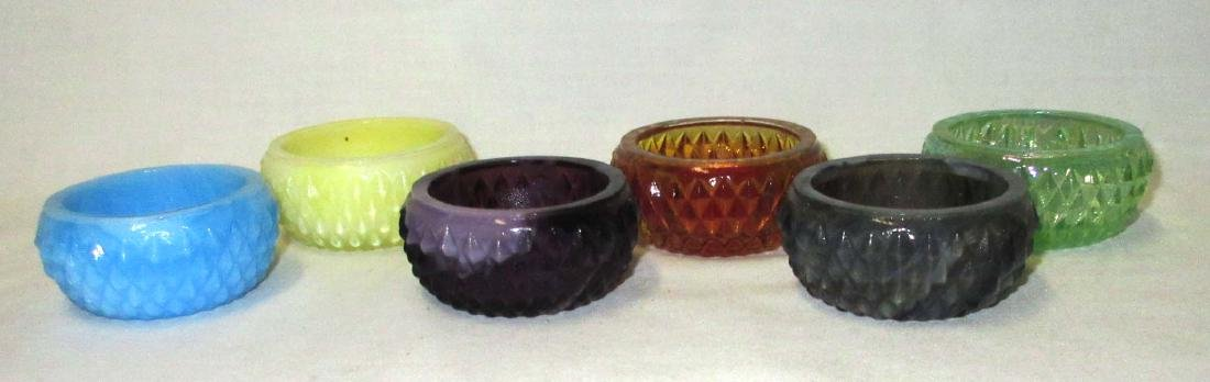Set of 6 Hobnail Salts