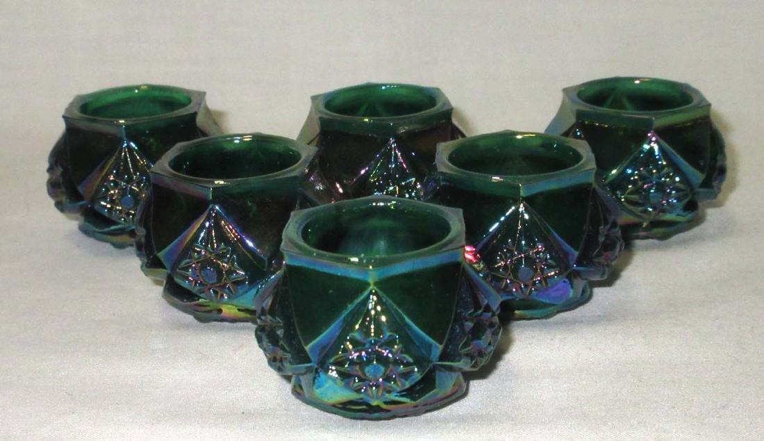 Lot of 6 Carnival Glass Salts