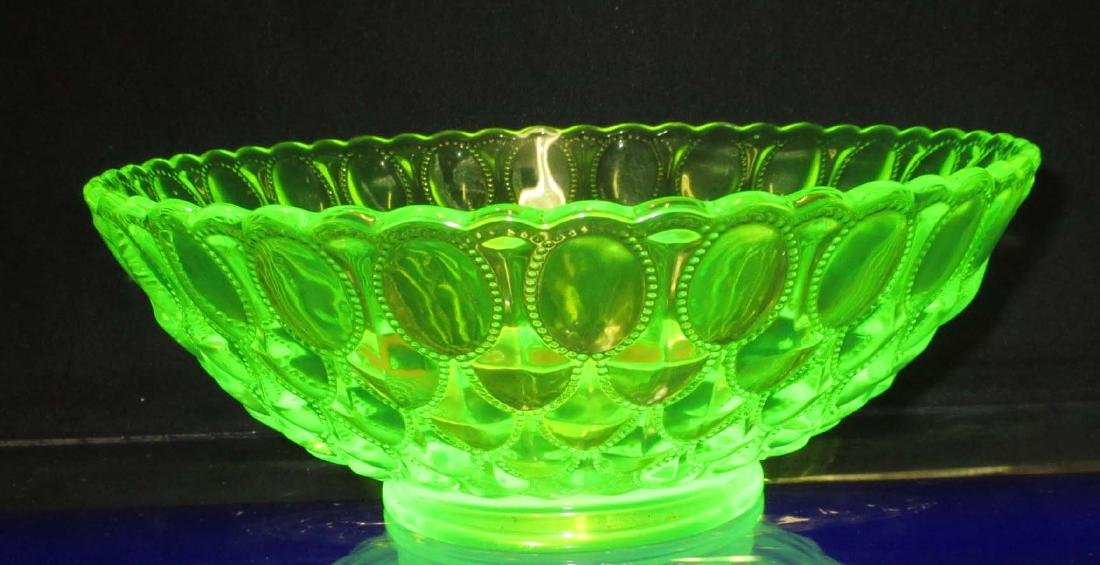 Lg. Vaseline Glass Bowl