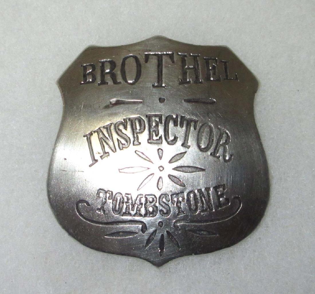 Modern Brothel Inspector Tombstone Badge