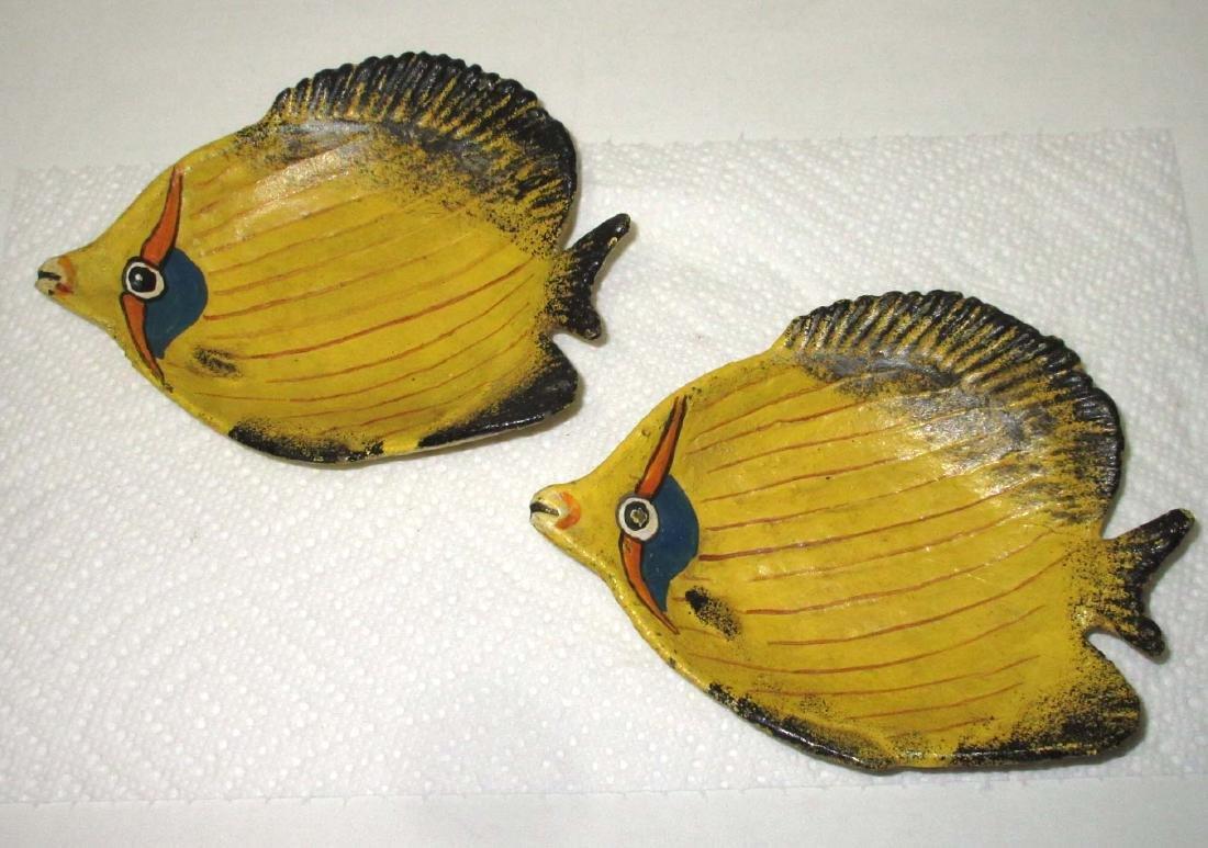 2 Cast Iron Fish Trays