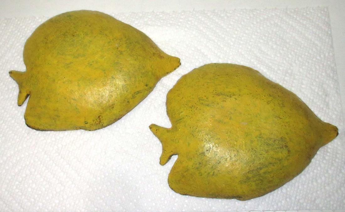 2 Cast Iron Fish Trays - 2