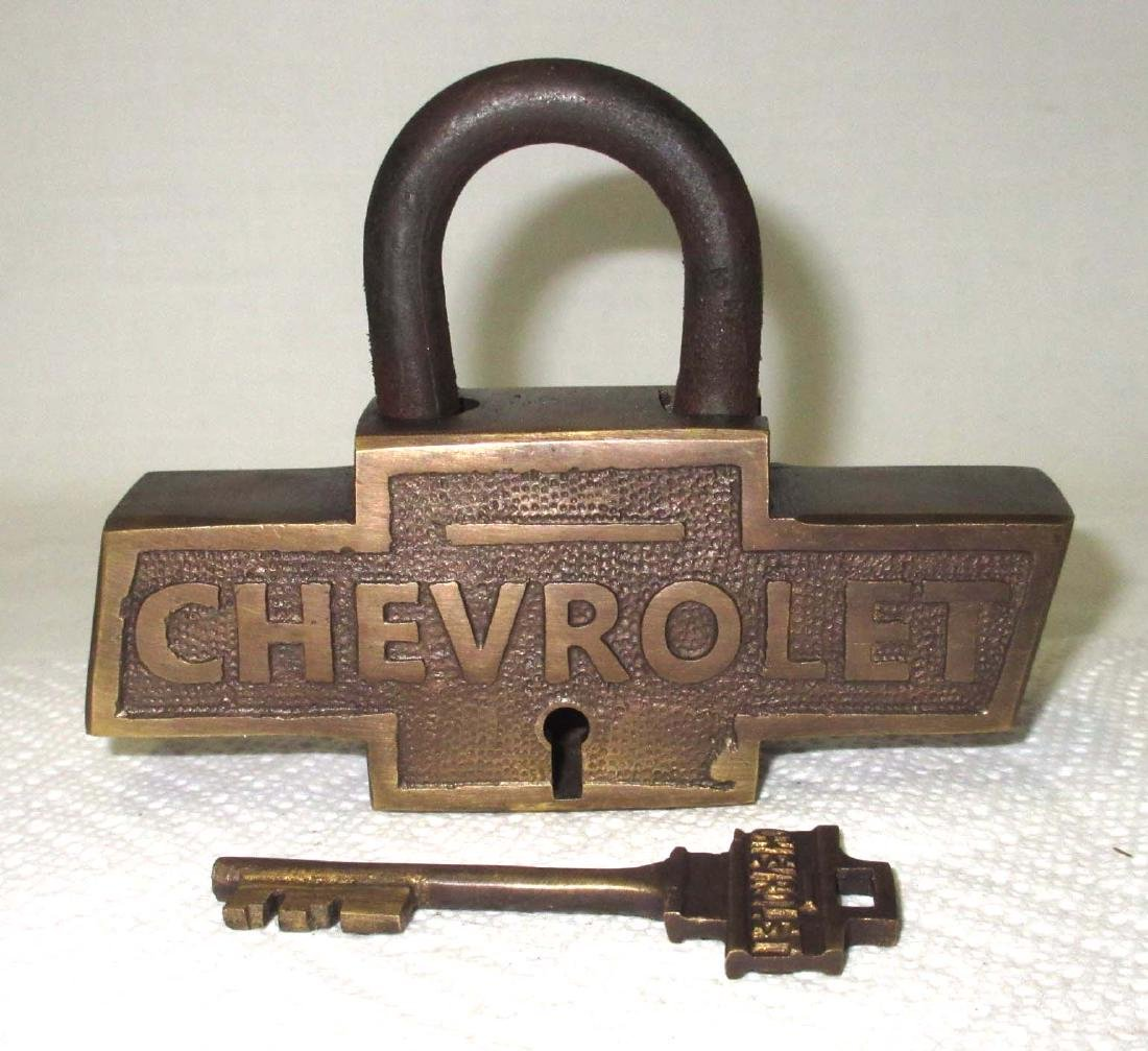Modern Brass Chevrolet Lock & Key