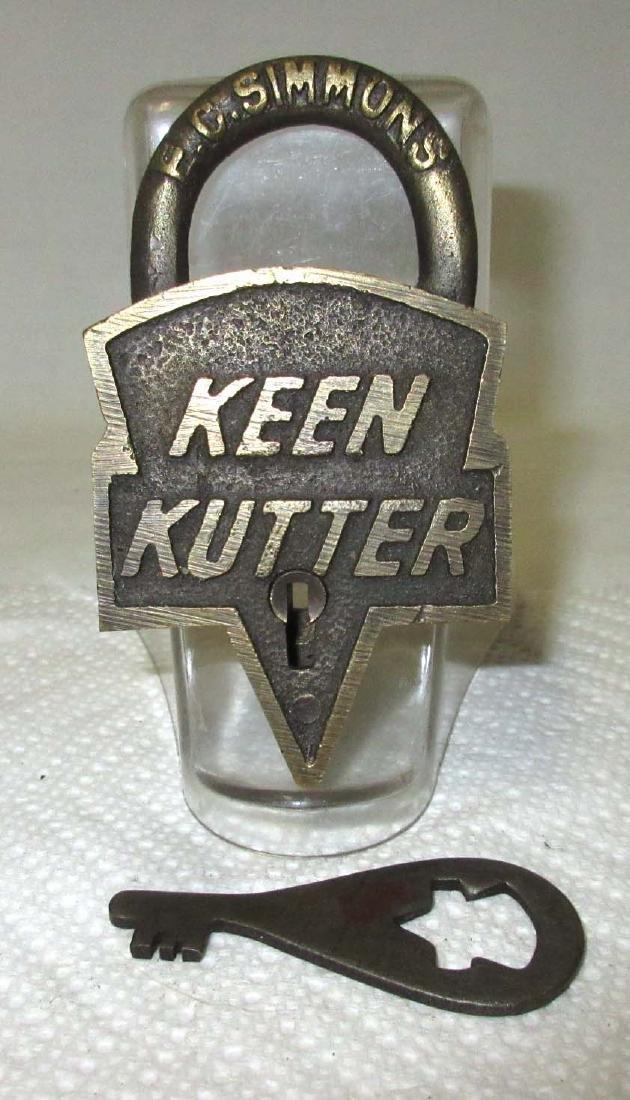 Modern Brass Keen Kutter Lock & Key