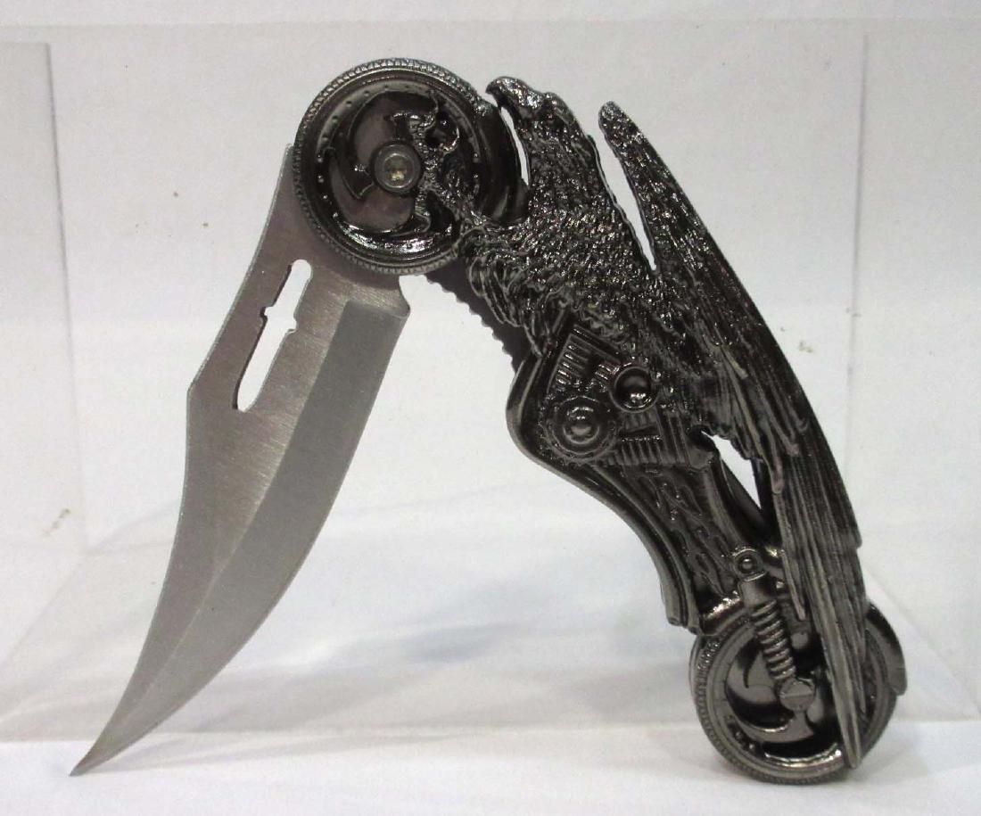 """4 1/2"""" Screaming Eagle Pocket Knife"""