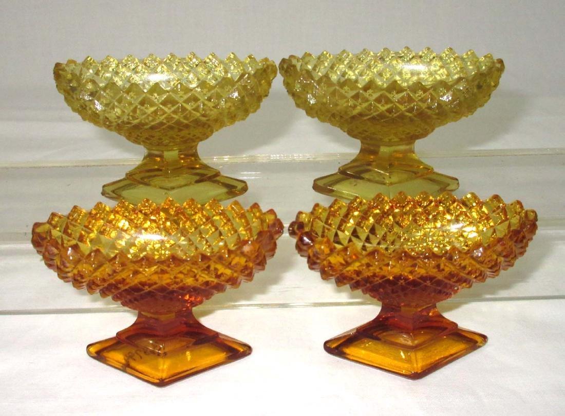 Set of 4 Pedestal Salts