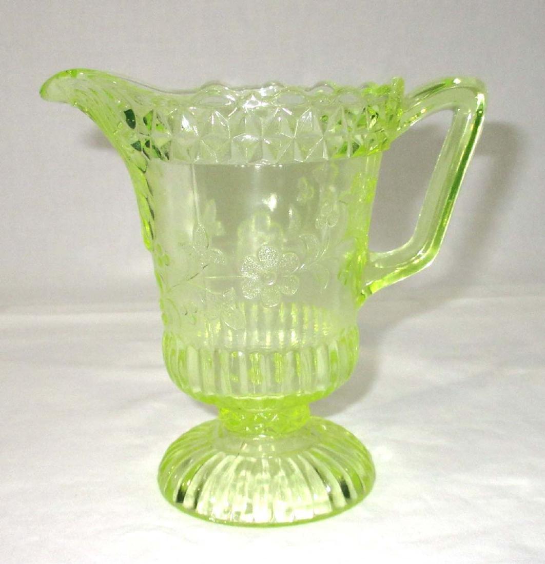 Vaseline Glass Pitcher - 2