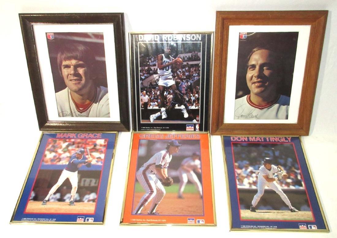 6 Baseball Framed Photos