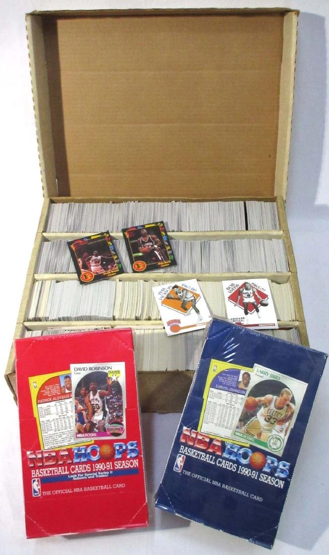 3 Boxes '90 - '91 Sky Box, Hoops & Other Baseball Cards