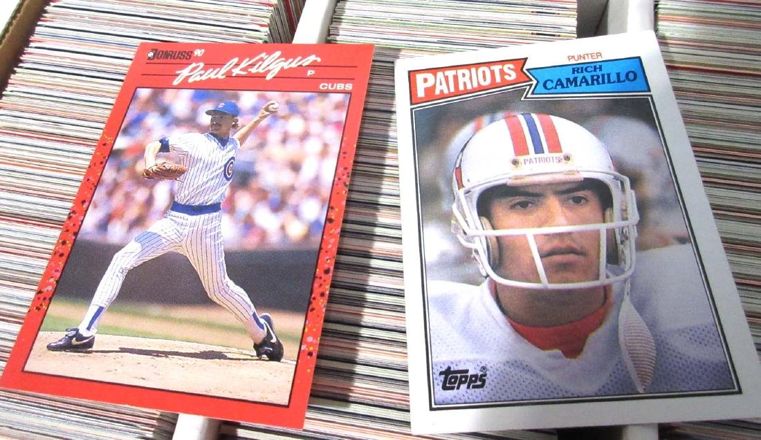 2 Boxes '89-'90's Baseball, Football, & Other Cards - 4