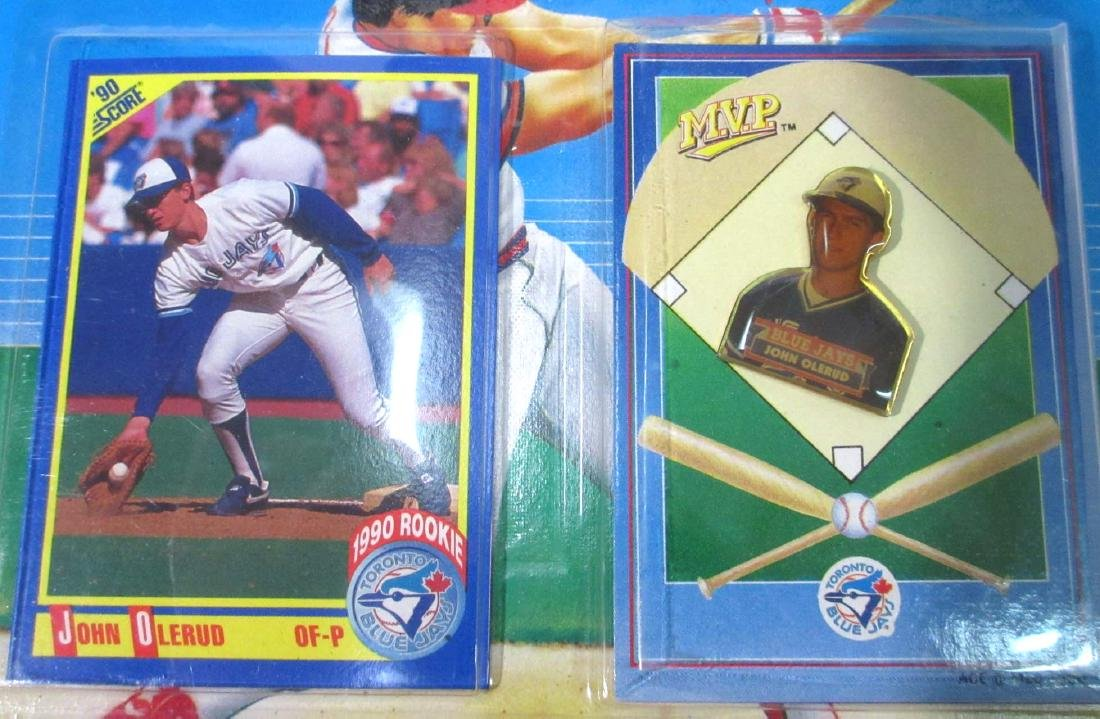Lot of NIB 1990 Baseball Cards & Pins - 2