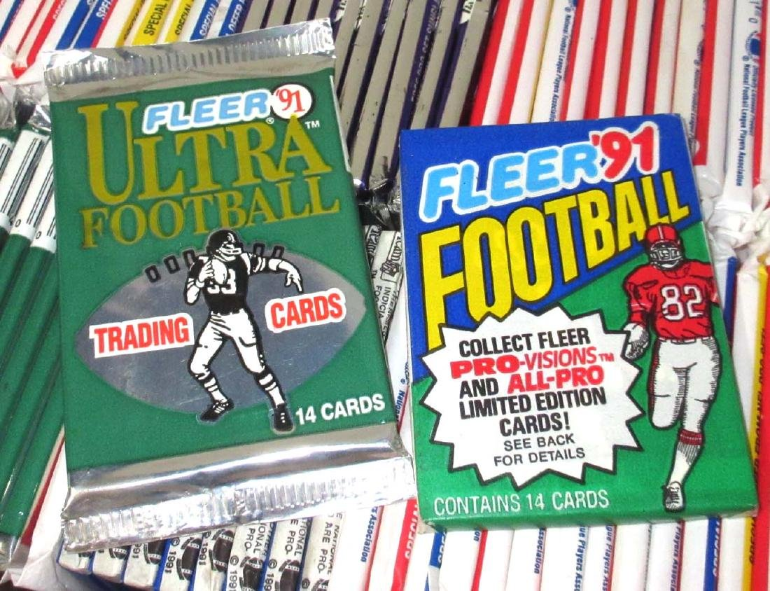 Large Lot 1980's - 90's NIB/Pack Football Cards - 2