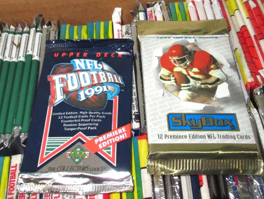 Large Lot 1980's - 90's NIB/Pack Football Cards - 4