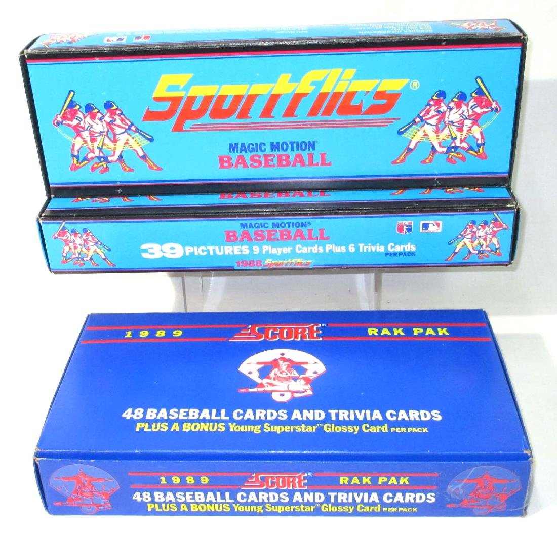 3 Factory Boxes 1988 - 89 Baseball Cards