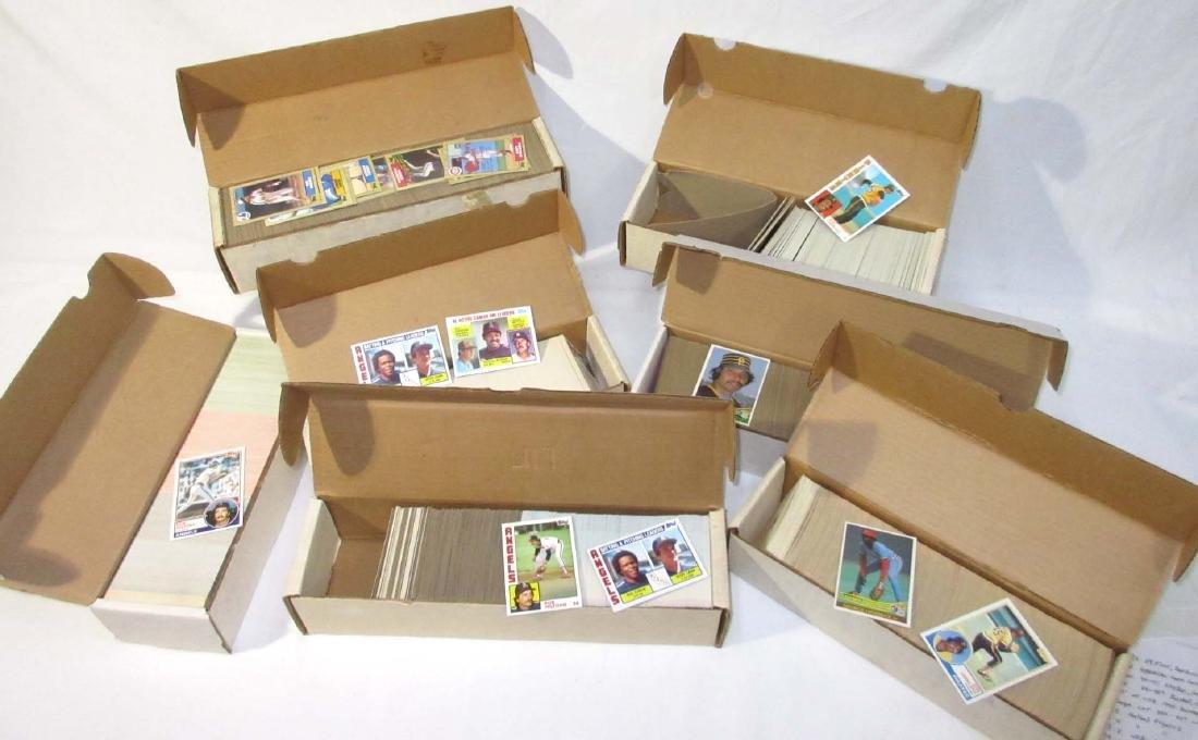 7 Boxes 1980's - 90's Baseball & Basketball Cards