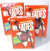 3 Sealed Michael Jordan Wheaties Boxes