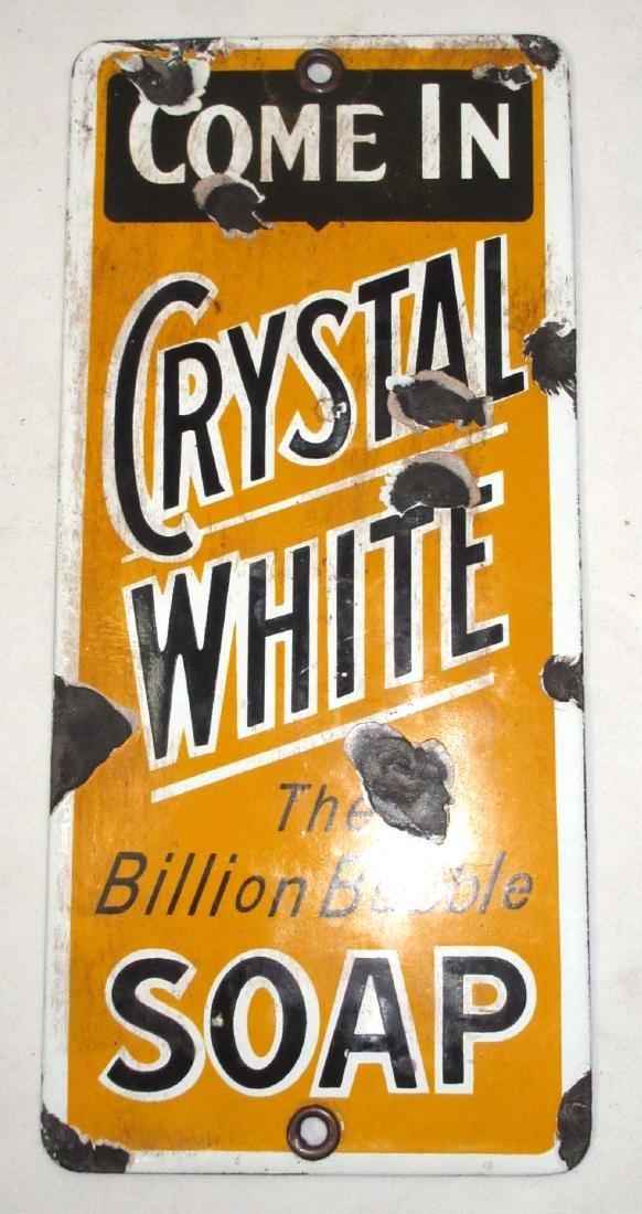 Porcelain Crystal White Soap Sign